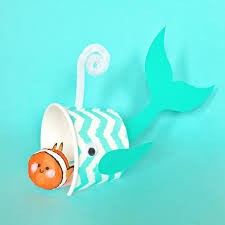 Whale And Clown Fish Paper Cup Craft