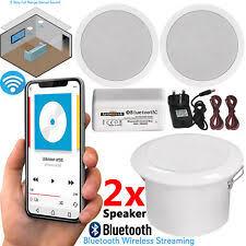 paar lautsprecher kabellos decke bad küche bluetooth verstärker 5 zoll uk