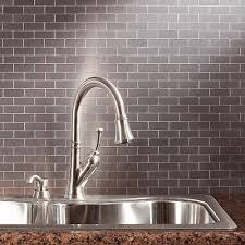 Peel And Stick Faux Glass Tile Backsplash by Peel And Stick Backsplash Tile Guide