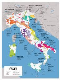 Detailed Italian Wine Regions Map