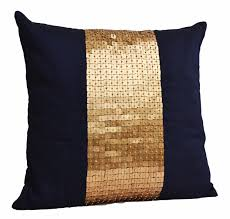 Macys Sofa Pillow Covers by Throw Pillows Navy Blue Gold Color Block In Silk Sequin Bead