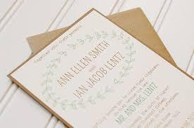 Laurel Wedding Invitations Simple Affordable Rustic Kraft Paper Shabby Chic