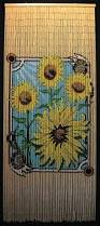 Bamboo Bead Curtains For Doorways by Beaded Bamboo Curtain With Sunflowers