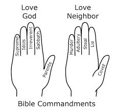 FileBible Commandments Hand Mnemonic