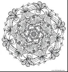 Good Printable Mandala Coloring Pages Adults Free Flower Abstract Elephant For Animals Owl