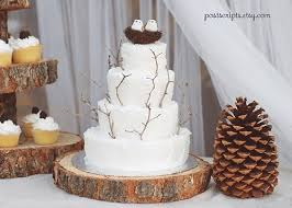 16 Rustic Wood Tree Slice Wedding Cake Base Or By Postscripts 3799 Via Etsy