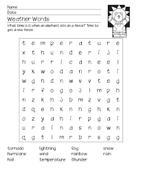 Weather Word Search A Fun Addition To Your Themed Curriculum For School Or Homeschooling This Free Printable