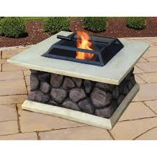Decor Modern Minimalist Round Tabletop Fire Pit For Modern Patio