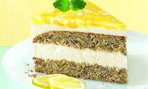 mohn zitronen torte