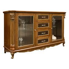 alba antike kommode sideboard mit glastüren naturholz eiche braun