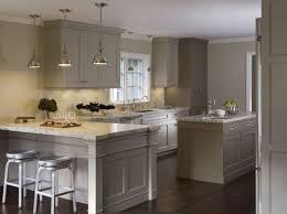 unique light grey painted kitchen cabinets taste