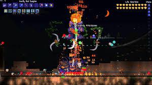 Pumpkin Moon Terraria by Terraria 1 2 1 1 Pumpkin Moon Gameplay W Bat Scepter Youtube