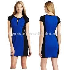 Clothes Women Color Block Dresses Combination Dress 20004