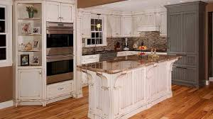 Off White Distressed Kitchen Cabinets Peaceful Inspiration Ideas Rustic Painting