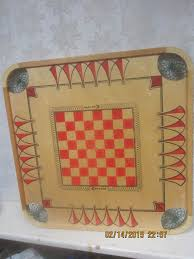 Carrom Board Box Misc Contents Vintage