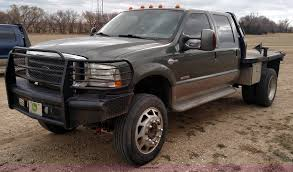 2004 Ford F350 Super Duty Lariat King Ranch Crew Cab Flatbed...