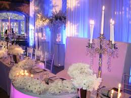 Wedding Decoration Purple Winter Wonderland Dining Table Pertaining To Centerpieces