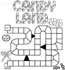 Candyland Coloring Pages Astounding Printable