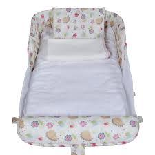 Peapod Plus Baby Travel Bed by Labebe Travel Beds Labebe Newborn Baby Foldable Portable Cot With