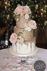 Stripey Chocolate Drip Wedding Cake Serves 80 Portions Price Cat C GBP475 Plus GBP65 Flowers