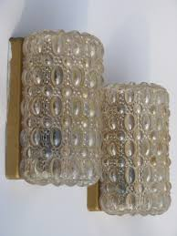 vintage wall sconce lighting fixtures w iridescent glass shades