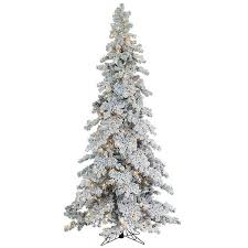 Pre Lit Flocked Spruce Christmas Tree
