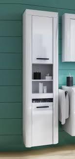 bad hochschrank badezimmer badmöbel badschrank weiß weiß hochglanz mosaik 41cm