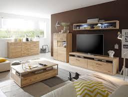 wohnzimmer esma 36 eiche bianco 5 teilig wohnwand beleuchtung expendio
