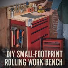 How To Make A DIY Rolling Work Bench With Storage