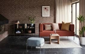 hübsch sofa braun schwarz