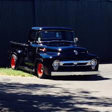 Here's A '56 F100 With A 312 Y-block Bored .060 Over. Owned By ...