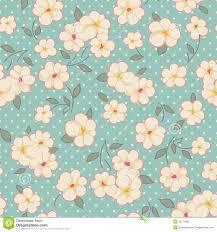 Blue Vintage Floral Background On