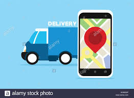100 Truck Tracking Gps Delivery Service Truck With Gps Tracking Vector Illustration Stock