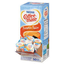 Coffee Mate Liquid Creamer Mini Cups Pumpkin Spice 50 Creamers NES75520