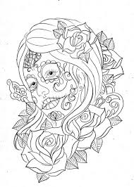 Day Of The Dead Coloring Sheet