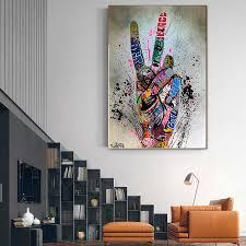 straße graffiti kunst leinwand malerei liebhaber hände kunst wand poster und drucke inspiration kunstwerk bild für wohnzimmer dekor