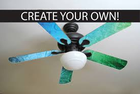 Decorative Ceiling Fan Blade Covers by Custom Ceiling Fan Blades Made Just For You