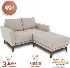 blau festnight 2 sitzer sofa lounge sofa kleines stoffsofa