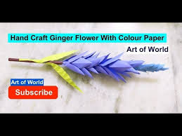 How To Make Ginger Flower With Colour Paper
