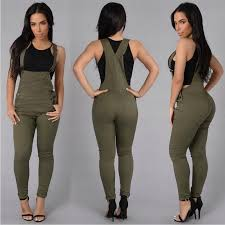 Batoneur Women Overalls Denim Long Pants Skinny Suspender