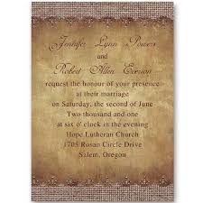 Rustic Printable Burlap Wedding Invitations Online EWI249