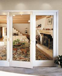 milgard out swing french doors traditional patio seattle