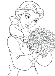 Coloring Princess Belle Pages Medium Size Of With Wallpaper For Princesses Disney Rapunzel Free