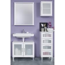 badezimmer hängeschrank in weiß mit satiniertem glas florida orlando 35 x 48 cm badschrank