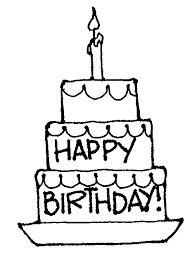 Black clipart birthday cake 3
