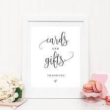 Printable Cards And Gifts Sign Rustic Wedding Table Gift