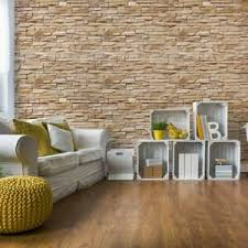 details zu tapete vlies fototapete für wohnzimmer steinoptik beige steinwand