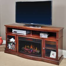 Decor Flame Infrared Electric Stove by Walker Infrared Electric Fireplace Entertainment Center In Cherry