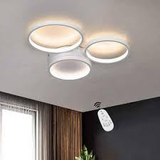 zmh led deckenleuchte deckenle 38w dimmbar farbwechsel aus aluminium ring design für wohnzimmer schlafzimmer