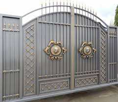 Stunning Gray Gold Gate Design Ideas For Modern Home Decor ... Simple Modern Gate Designs For Homes Gallery And House Gates Ideas Main Teak Wood Panel Entrance Position Hot In Kerala Addition To Iron Including High Quality Wrought Designshouse Exterior Railing With Black Idea 100 Design Home Metal Fence Grill Sliding Free Door Front Elevation Decorating Entry Affordable Large Size Of Living Fence Diy Wooden Stunning Emejing Images Interior